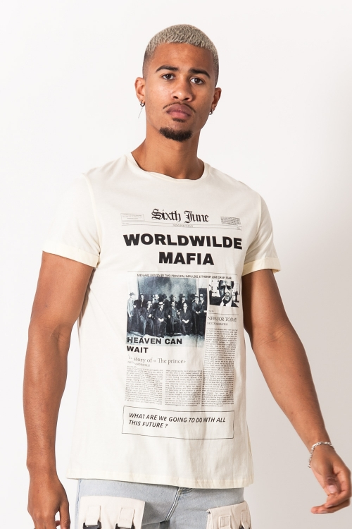 SIXTH JUNE WORLDWILDE MAFIA PRINT BEIGE L