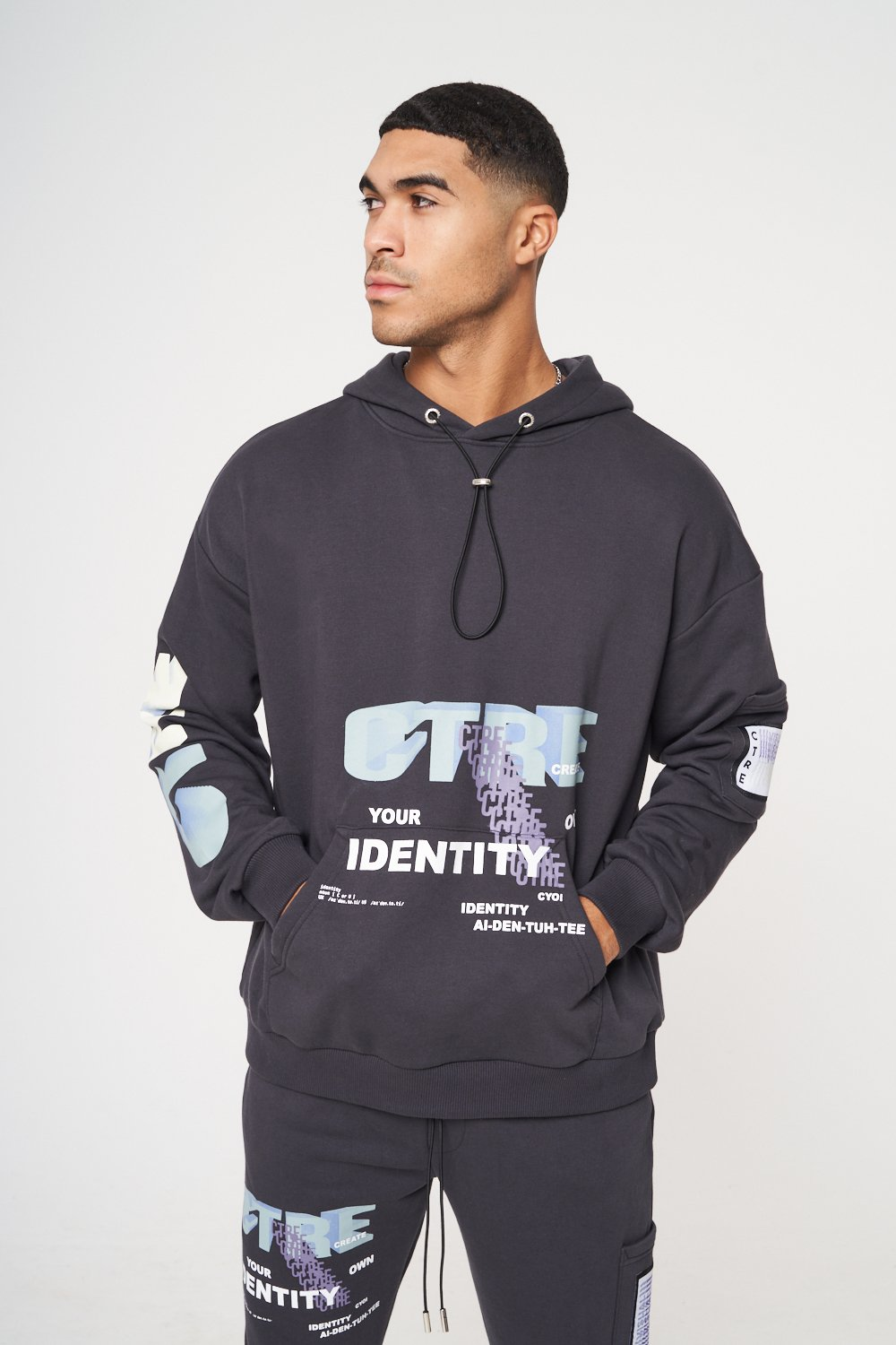 CTRE GRAPHIC PRINTED RELAXED FIT HOODIE XL