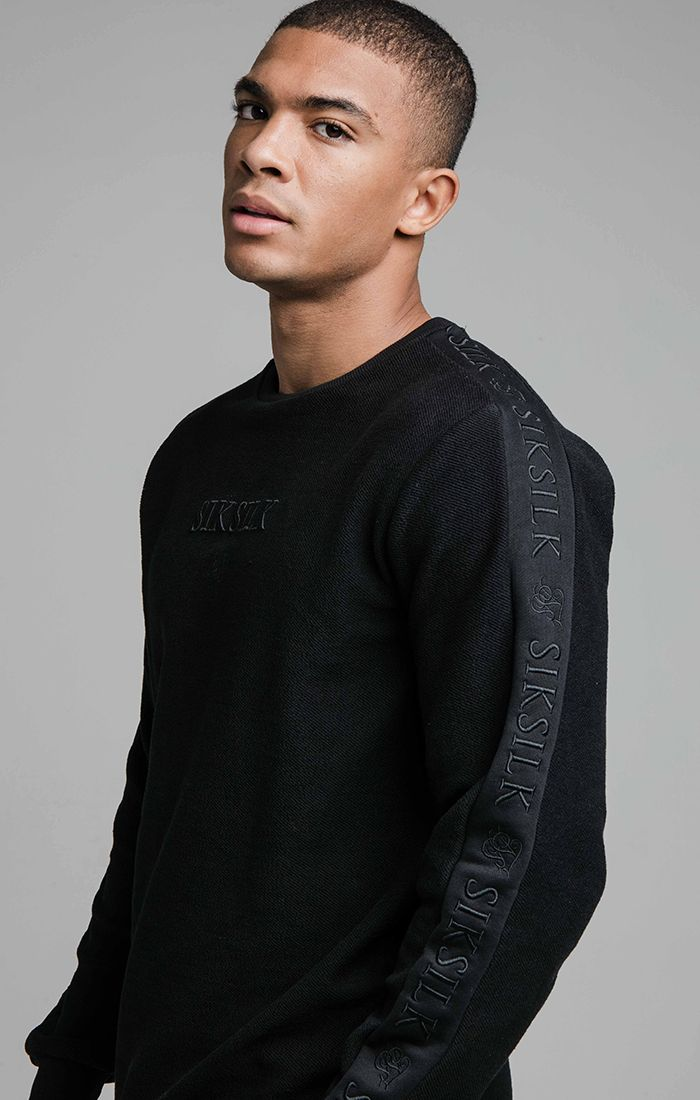 SIKSILK L/S LOOP BACK EMBROIDERED SWEATER M
