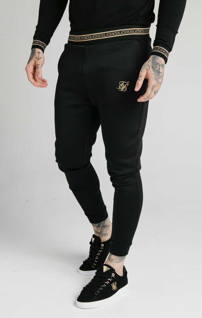 SIKSILK ELEMENT MUSCLE FIT CUFF JOGGERS M