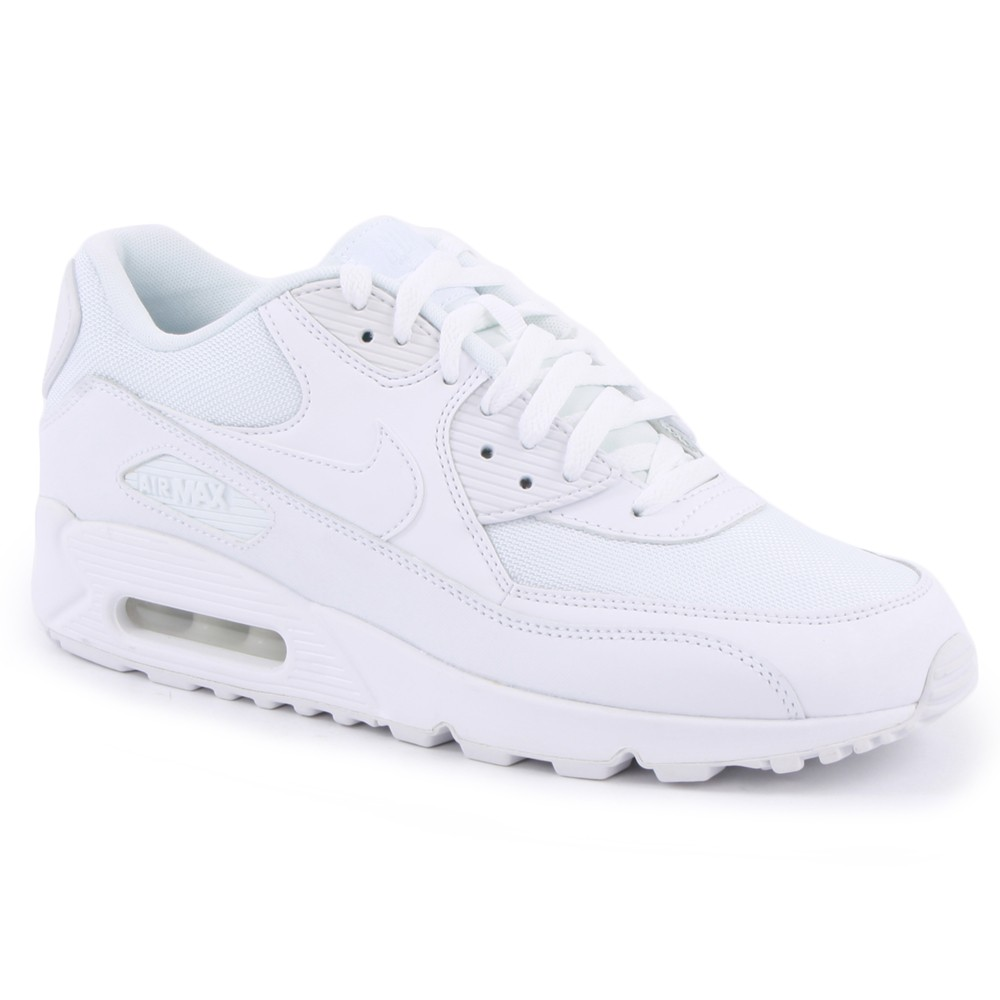 99a4ea54a8 Nike Air Max 90 Essential White White Sneakers