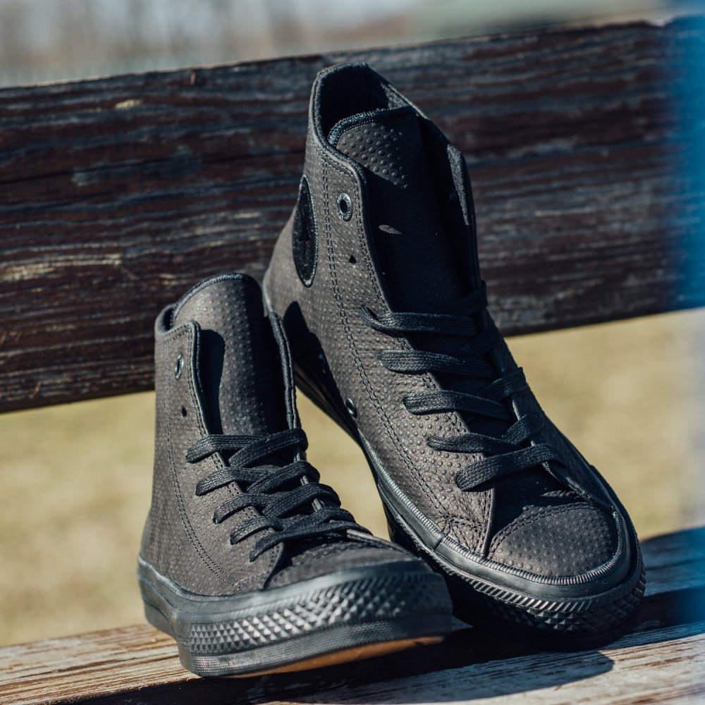 7a8058d06cf Dámske Tenisky Converse Chuck Taylor All Star II Lux Leather High Top Black