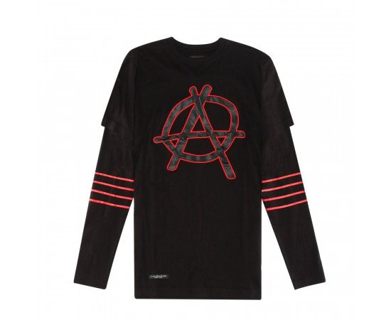 Tričko C&s BL Anarchy Black Red