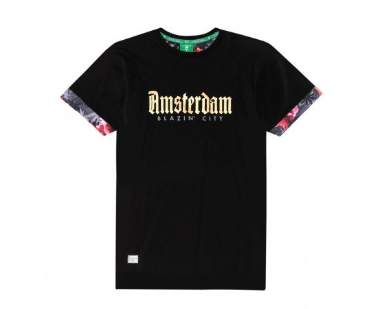 Tričko C&s GL Amsterdam Roll Up Black
