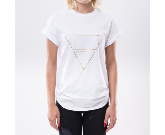 Tričko Goldie Vision Pyramid Goldie Merch White