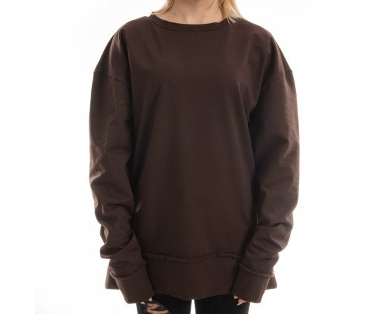 Mikina Goldie Vision Oversized Brown