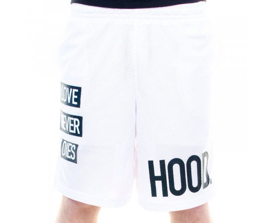 Kraťasy Cayler & Sons BLLB Hood Love Mesh Shorts White Black