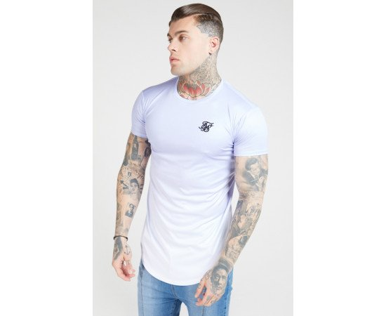 SIKSILK S/S FADE CURVED HEM TEE