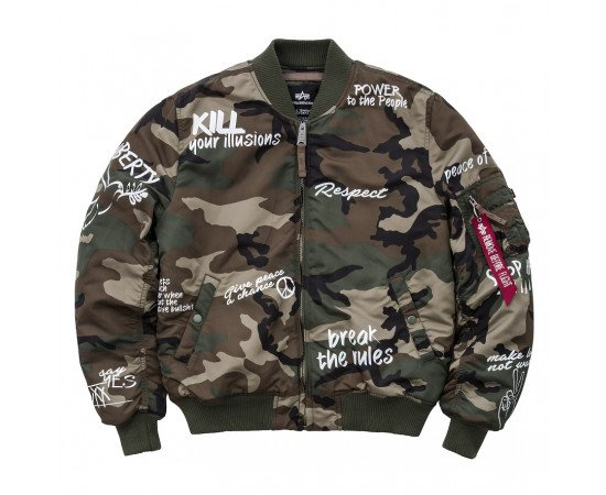 Pánska bombera Alpha Industries MA-1 VF Freedom Camo