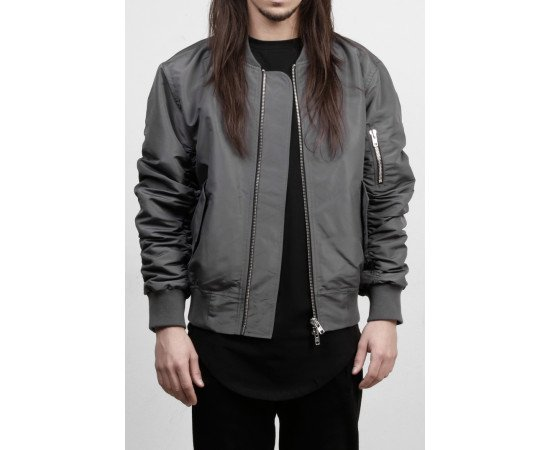 Bunda Favela Bomber Jacker Grey