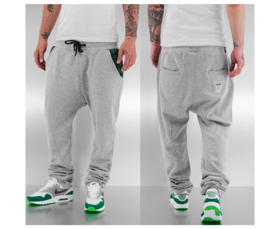 Tepláky Dangerous DNGRS Weed Sweat Pants Grey Melange