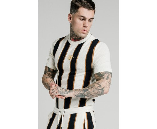 SIKSILK FITTED KNIT TEE