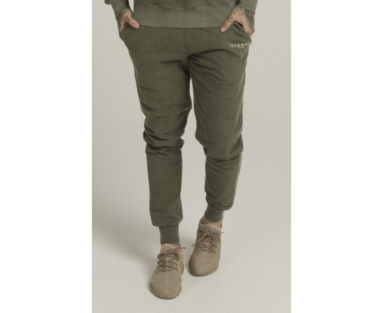 Tepláky Illusive London Sand Blast Khaki