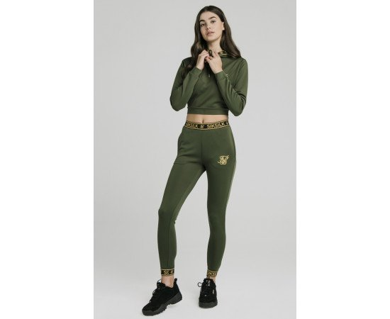SikSilk Tracksuits Taped Bronze Green