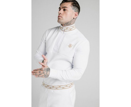 SIKSILK CHAIN RIB QUARTER ZIP OVERHEAD TRACK TOP
