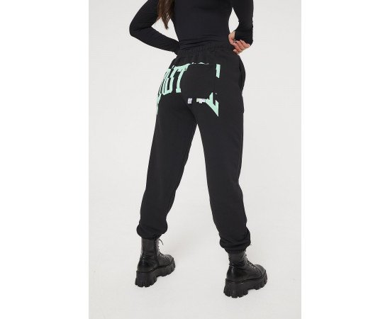 COUTURE VARSITY OVERSIZED JOGGERS