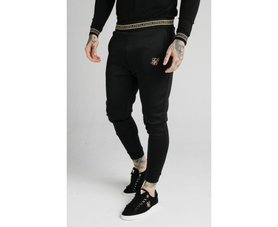 SIKSILK ELEMENT MUSCLE FIT CUFF JOGGERS