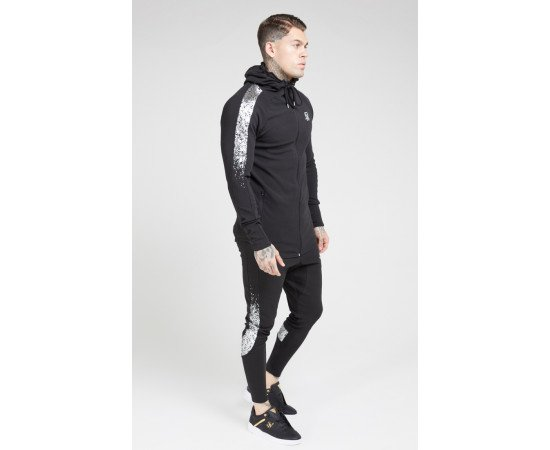 Siksilk Tracksuits Fade Black & Silver