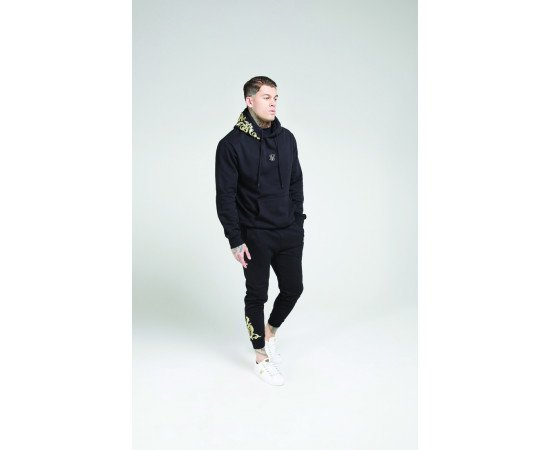 SikSilk tracksuits Fitted Jet Black & Gold