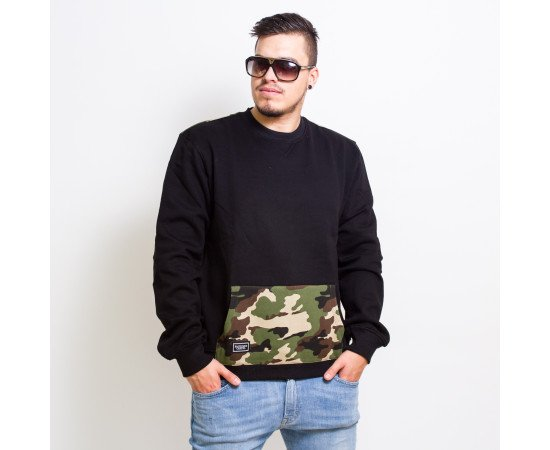 Crewneck Backyard Cartel Woodland Back Crew Black Camo