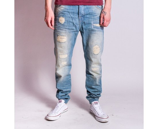 Nohavice VSCT Noah Cuffed New Vintage Sunfaded Blue