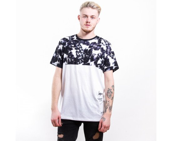 Tričko Hype Monotone Panel White Black