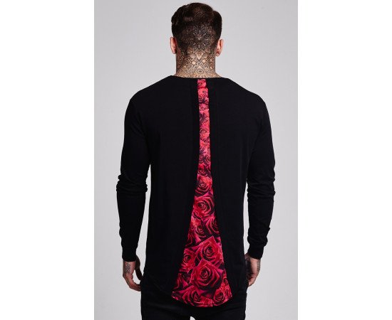 Tričko Sik Silk Rose Racer Back Black