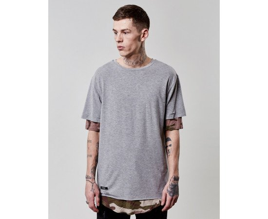 Tričko C&s BL Deuces Long Layer Grey
