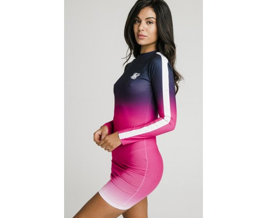 SIKSILK TAPE FADE BODYCON DRESS