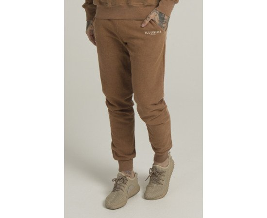 Tepláky Illusive London Sand Blast Brown