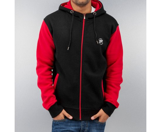 Mikina Just Rhyse 2 Tone Time Zip Hoody Black/red