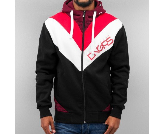 Mikina Dangerous DNGRS Arrowhead Zip Hoody Black Red White