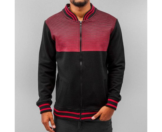 Sveter Just Rhyse College Zip Black