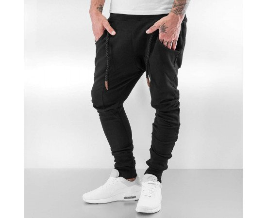 Bangastic Thick Drawstring Sweat Pants Black