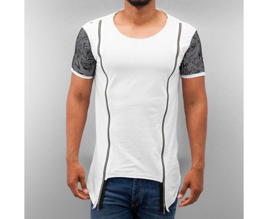 Tričko Bangastic Zipper T-Shirt White