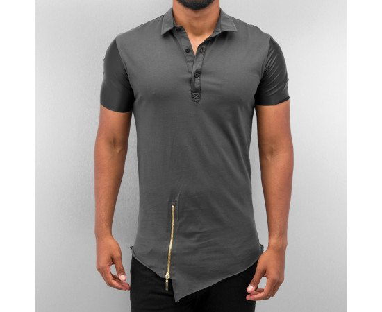 Bangastic PU Polo Shirt Anthracite