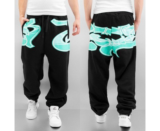 Dangerous DNGRS Tag Sweat Pants Black/Blue