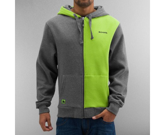 Dangerous DNGRS Two Face Zip Hoody Anthracite/Green