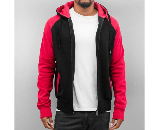 Mikina Cyprime Basic Zip Hoody Black/Red