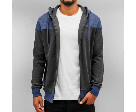 Mikina Cyprime Zip Hoody Anthracite/Blue
