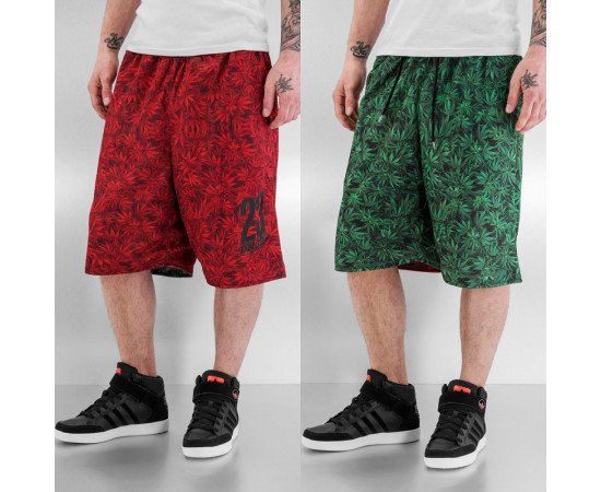 Kraťasy Dangerous DNGRS Reversible Shorts Green/red
