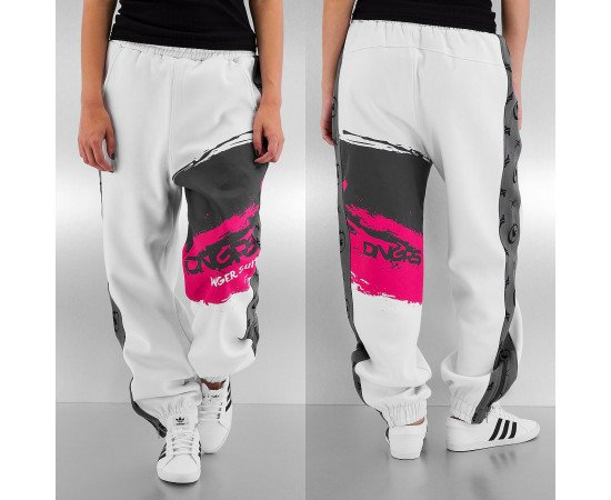 Tepláky Dangerous DNGRS Ladies Anger Sweat Pants White Steel Grey