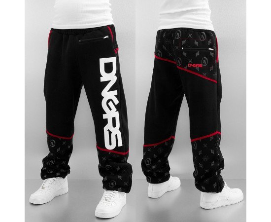 Tepláky Dangerous DNGRS Crosshair Sweat Pants Jet Black/chili Pepper