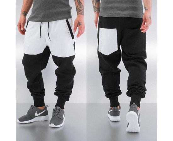 Tepláky Dangerous DNGRS PU Sweat Pants Black/white
