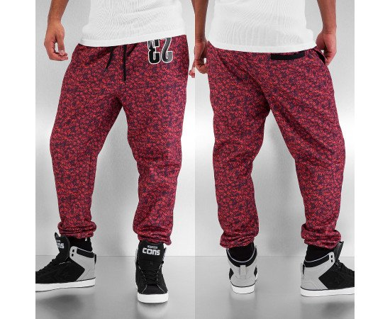 Tepláky Dangerous DNGRS Red Weed Sweat Pants Red