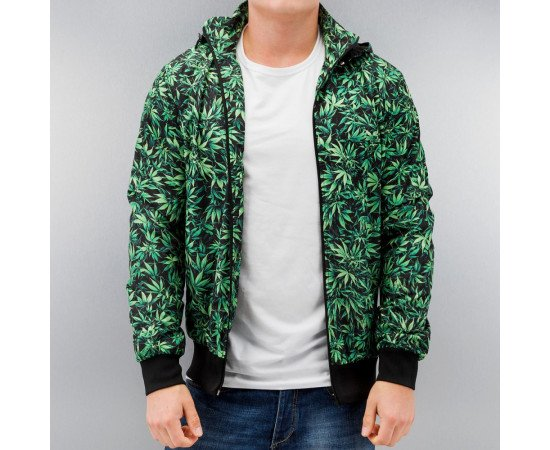 DANGEROUS DNGRS CANNABIS JACKET GREEN