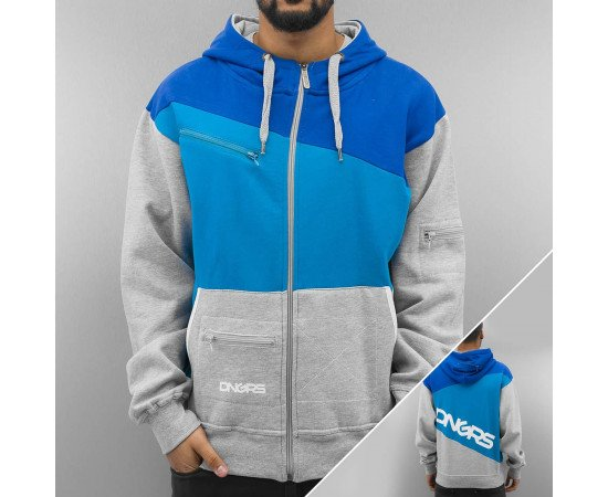 Dangerous DNGRS *B-Ware* Three Tone Zip Hoody Grey/Blue