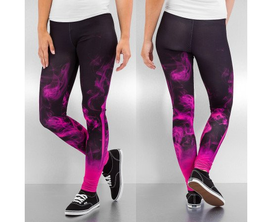 Legíny Dangerous DNGRS Smoke Leggings Black Pink