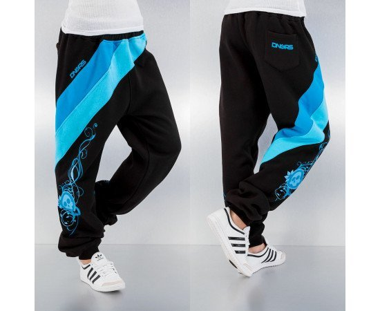 Tepláky Dangerous DNGRS Skull Sweat Pants Black Turquise