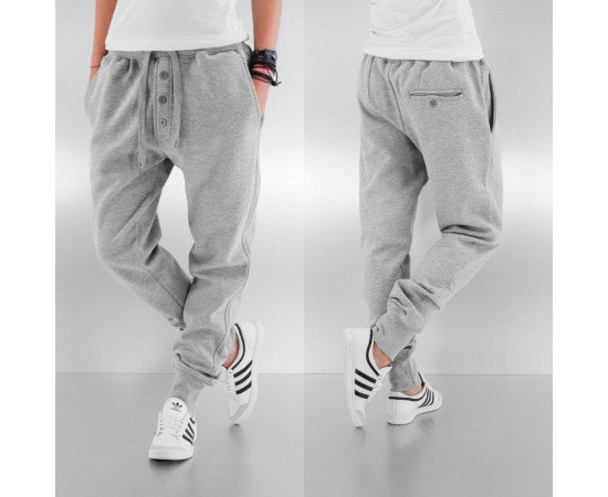 Tepláky Dangerous DNGRS Placket Sweat Pants Grey Melange